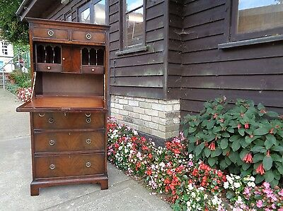 Antique Style Mahogany Bureau Chest On Chest Delivery Available