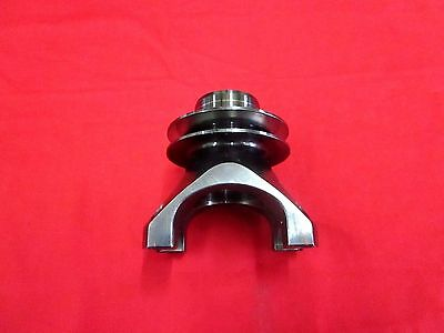 """Nascar 9"""" Ford Billet Pinon Yoke For 1-3/16"""" U Joints. With 3"""" V Groove Pulley"""