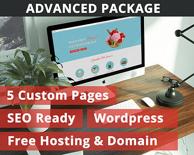 Professional Web Design & Build - Free Hosting & Domain - £59.99 - Advanced Pack