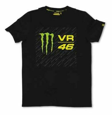 Valentino Rossi Official Monster 46 T-Shirt - Black - Size small or Large