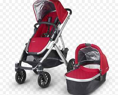 Uppa Baby stroller with bassinet (red)