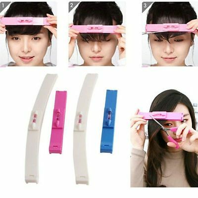 Pro 2x DIY Professional Hair Cutting Clip Comb Tool Trim Bangs Hairstyle Fringe