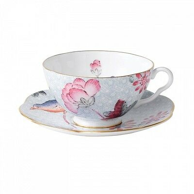 Wedgwood China Tea Story CUCKOO BLUE Cup and Saucer Set - NEW!
