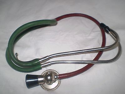 Stethoscope Old  Medical Metal Bakelite Rubber