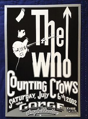 The Who / Counting Crows Original Concert Poster - Mint Condition