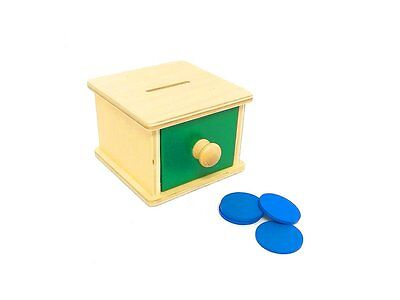 Montessori Infant Toddler Material - Wooden Infant Coin Box