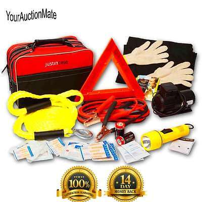 Deluxe Car Emergency Travel Pro Auto Safety Kit Carry Case Premium First Aid