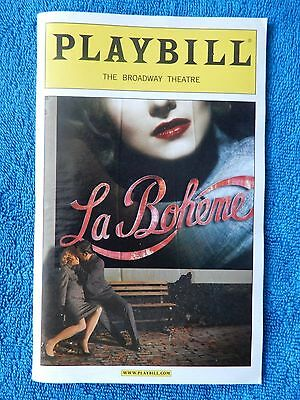 La Boheme - Broadway Theatre Playbill Opening Night - December 8th, 2002 - Webb