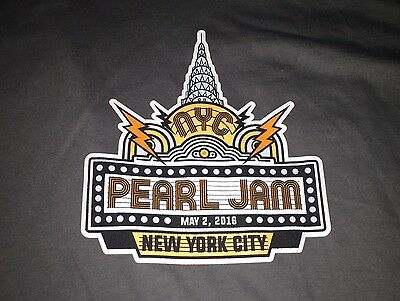 PEARL JAM - MSG New York City N2 T-SHIRT Size XL - May 2 2016 WOW nyc ny