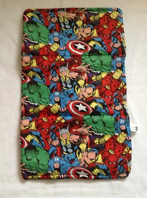 MARVEL baby travel changing mat cotton waterproof new COMIC SUPER HEROES black