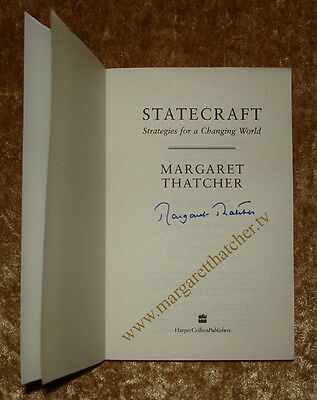 Margaret Thatcher Hand Signed And Handled Book In Her London Residence/office