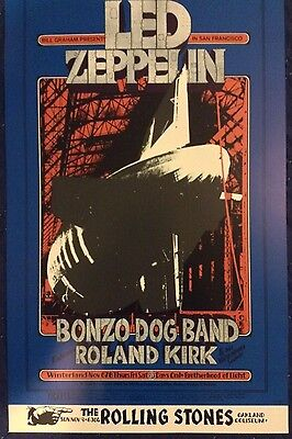 LED ZEPPELIN CONCERT POSTER 1969 - 2nd Pressing limited to 1,000 copies