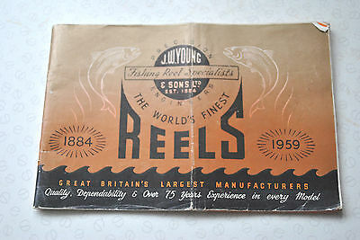 Vintage J W Young 1959 Fishing Reel Advertising Catalogue