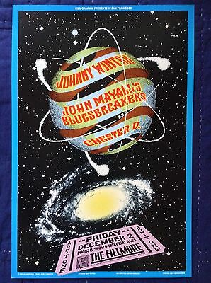 Johnny Winter Original Fillmore Poster - Mint Condition