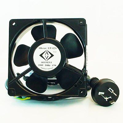 """Allvent PC Fan 4"""" 120mm with 240V plug, Quiet, 40,000hrs Aus Seller"""