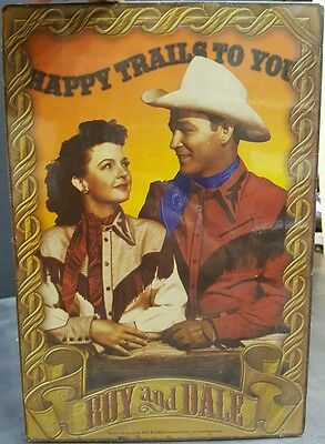 """Roy Rogers and Dale Evans """"Happy Trails"""" Metal Reproduction Sign"""
