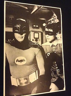 """BATMAN and ROBIN VINTAGE 1960's BLACK/WHITE """"25X17"""" POSTER - MINT CONDITION"""