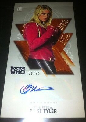 TOPPS Dr Who Tenth Doctor Adventures Autograph Auto Card #6/25 BILLIE PIPER rare