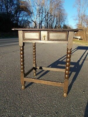 Early Handmade Jacobean Stand/Table ~ Mid 1700s ~ Near Charlottesville Virginia