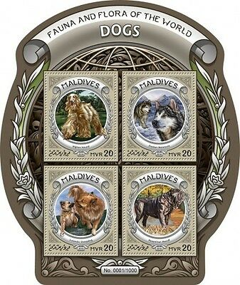 Z08 MLD16304a MALDIVES 2016 Dogs MNH