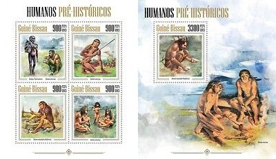 GB13402ab Guinea-BISSAU 2013 Prehistoric humans MNH SET