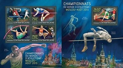 CA13517ab Central Africa 2013 Moscow 2013 MNH SET