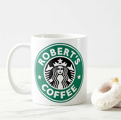 STARBUCKS COFFEE Personalised Name Mug Cup Coffee Tea Novelty Birthday Gift