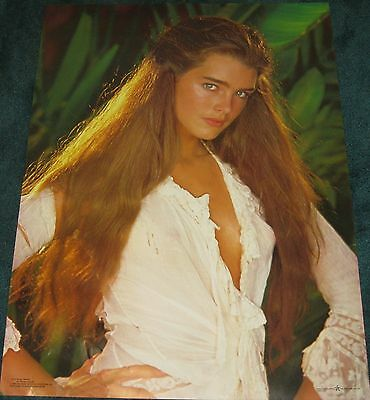 1980 Brooke Shields The Blue Lagoon Rare Vintage Poster celebrity movie pro arts