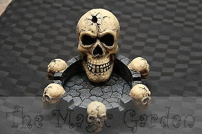 Skull Ashtray Gothic Cement Concrete Plaster craft Latex Mould Mold