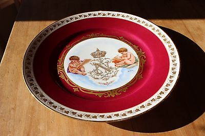 Antique SEVRES PLATE with Cherubs Chateau des Tuileries Napoleon III 1868 Signed