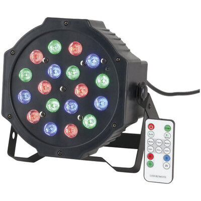 RGB Par Stage Light 18 x 1W LED with 3 Colours and Remote Contol