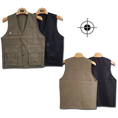 No Irritation Beyond Adult Mens Multi Pockets Casual Vest Outdoor Fishing M99G
