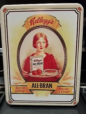 "Vintage Kellogg's All Bran Cereal Tin 1991 ""Best Bran Muffin"" Recipe"