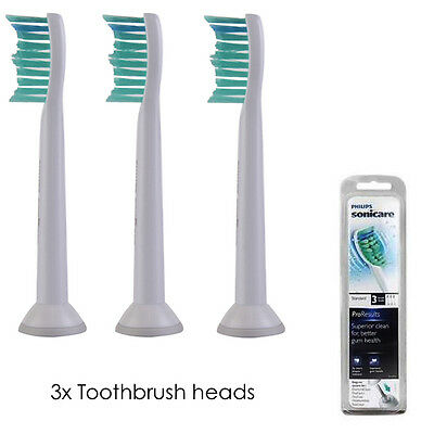 Philips Sonicare ProResults HX6013/02 Replacement Toothbrush Heads - Pack Of 3