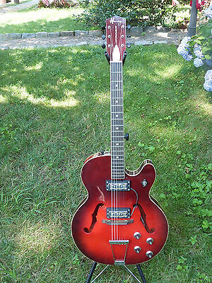Vintage USA Made Harmony Rocket F-67-H Hollow Body Electric Guitar