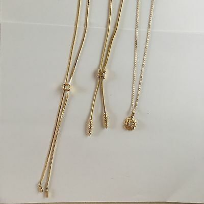 Lot Of Three Women's Costume Necklaces By Amway Gold Tone
