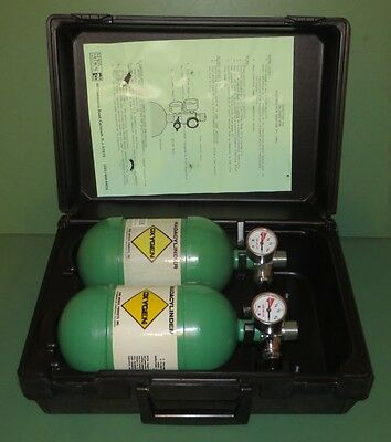 2 Pack Lot Set of MADA Oxygen Cylinders Tanks with Storage Case Paint Ball