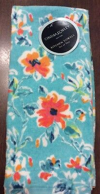 Set of 2 Cynthia Rowley Floral Spring Kitchen Dish Towels NWT