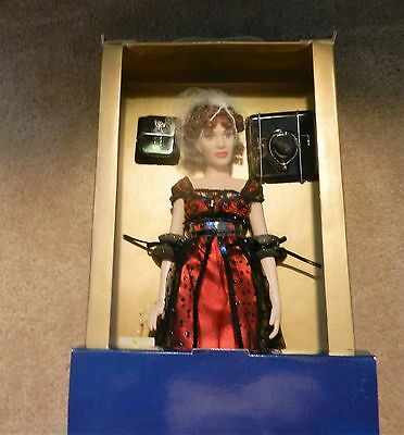 "Franklin Mint 16"" Titanic Rose All Jointed Vinyl in Red NIB NEW with papers"