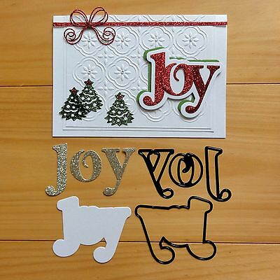 """Couture Creations Christmas """"joy"""" Sentiment Cutting Die """"reduced"""" - Bnip"""