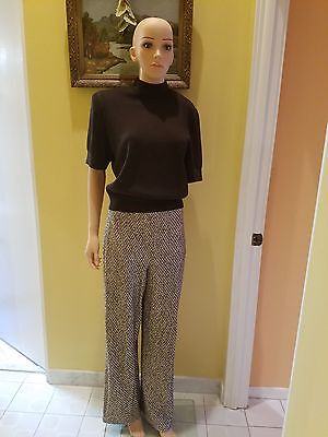St. John Collection By Marie Gray Short Sleeve Knit Pant Suit.sizem/6
