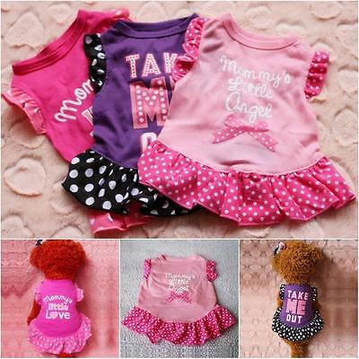 Puppy Pet Small Dog Cat Polka Dot Clothes Summer Vest T Shirt Dress Apparel Coat
