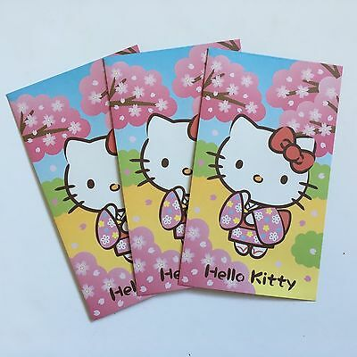 HELLO KITTY Small Japan / Chinese New Year Red Packet / Envelopes (5pk)