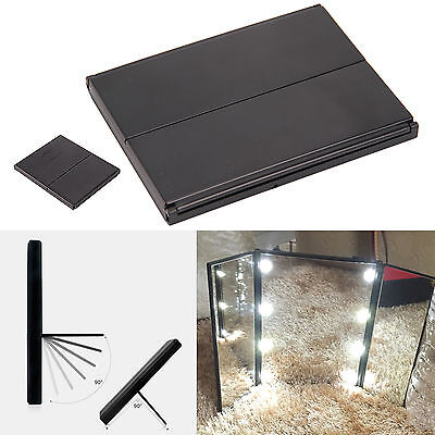8 LED Foldable Light Illuminated Make Up Cosmetic Tabletop Beauty Vanity Mirror