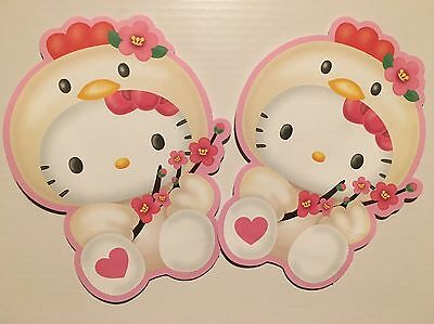 HELLO KITTY Chicken Small Japan / Chinese New Year Red Packet / Envelopes (4pk)