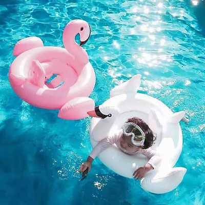 Inflatable Baby Kids Child Swimming Pool Swan Flamingo Seat Aid Float Ring Tube