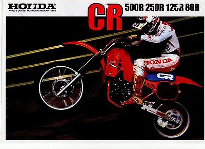 1984 HONDA  CR500RE CR250 CR125 CR80  6 Page Motorcycle Brochure NCS