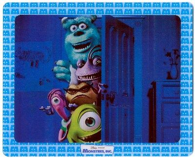 Disney's Monsters Inc. Trivia/Promo Flasher 3D Cards - 2 Cards - New - 2002