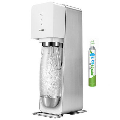 Soda Stream Source Element White/Black Home Soft Fizzy Bubble Drinks Maker