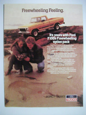 1979 Ford Freewheeling F100 Australian Magazine Fullpage Colour Advertisement